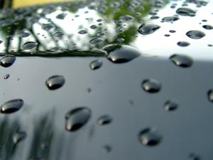 Water On car Wax