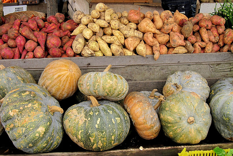 Pumpkins and potatoes. Photo: Ivan Atmanagara